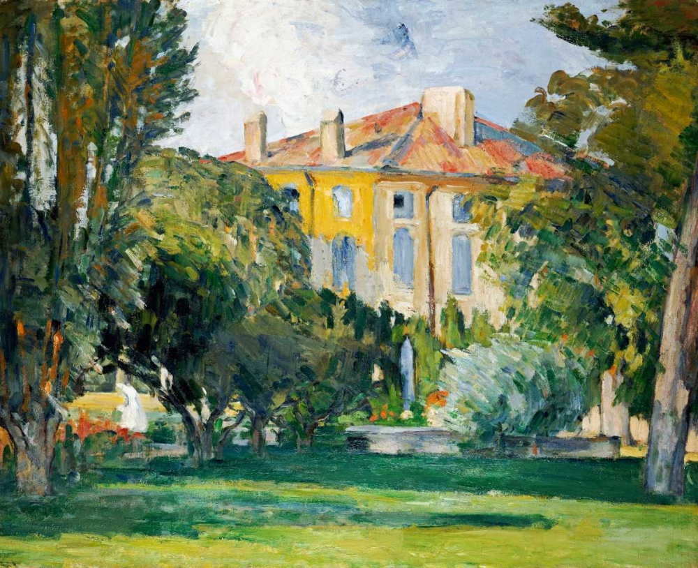 The House at Jas De Bouffan von Cezanne, Paul <br> max. 112 x 89cm <br> Preis: ab 10€