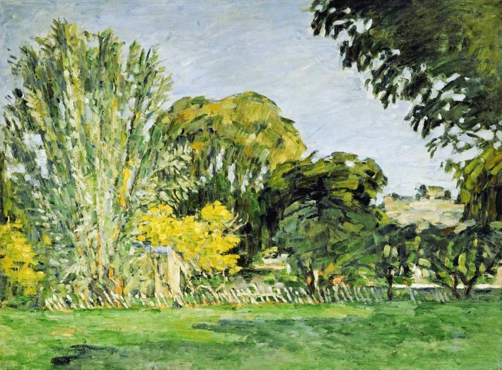 konfigurieren des Kunstdrucks in Wunschgröße Trees at Jas de Bouffan von Cezanne, Paul