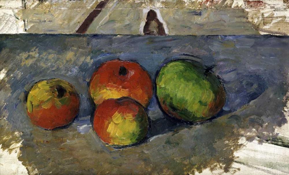 konfigurieren des Kunstdrucks in Wunschgröße Four Apples von Cezanne, Paul