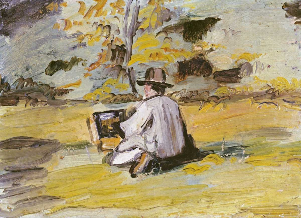 konfigurieren des Kunstdrucks in Wunschgröße A Painter at Work von Cezanne, Paul