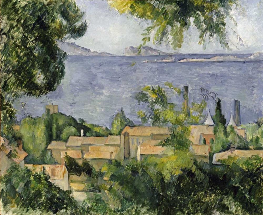 konfigurieren des Kunstdrucks in Wunschgröße The Rooftops of LEstaque von Cezanne, Paul