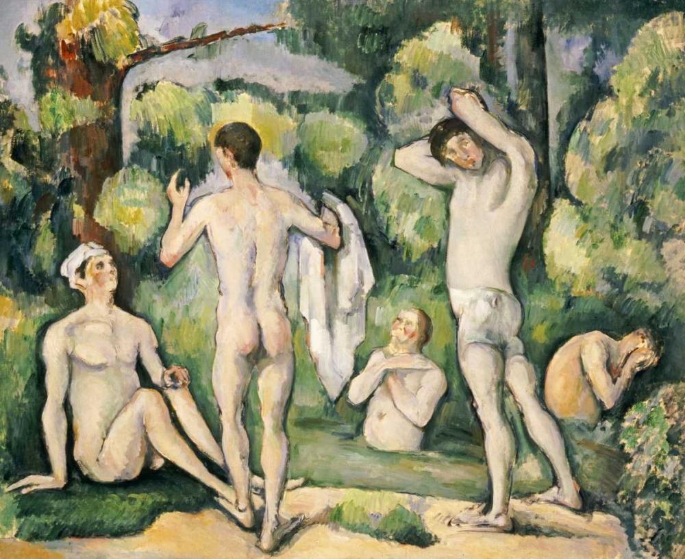 konfigurieren des Kunstdrucks in Wunschgröße The Five Bathers von Cezanne, Paul