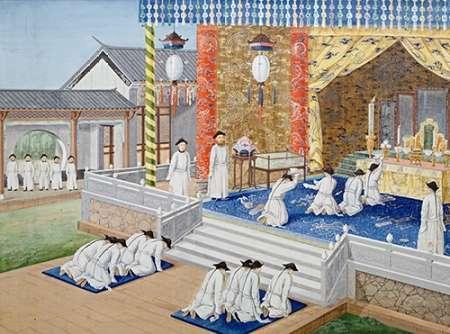 konfigurieren des Kunstdrucks in Wunschgröße Scenes From Imperial Court Life. 19th Century von Chinese School