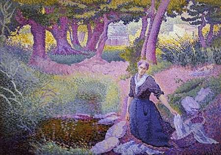 konfigurieren des Kunstdrucks in Wunschgröße The Washer-Woman von Cross, Henri Edmond