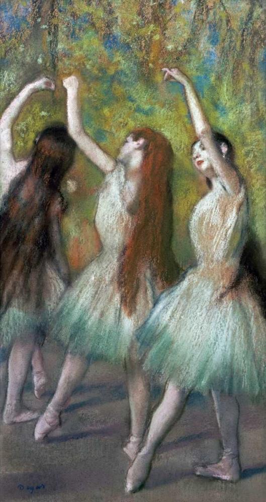 konfigurieren des Kunstdrucks in Wunschgröße Green Dancers von Degas, Edgar