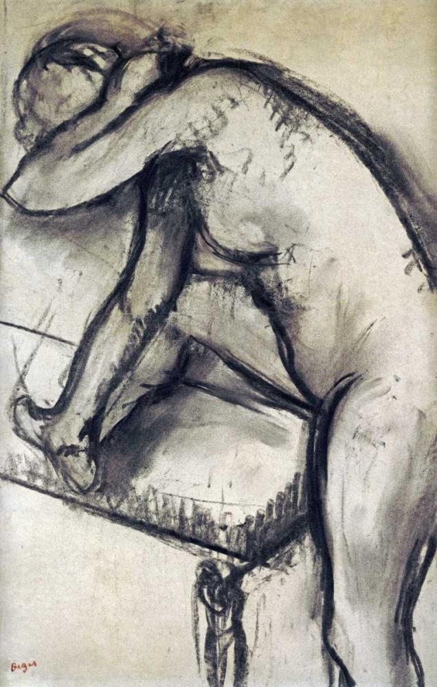 konfigurieren des Kunstdrucks in Wunschgröße Study of a Dancer von Degas, Edgar
