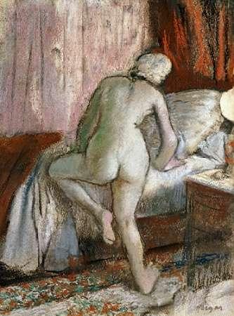konfigurieren des Kunstdrucks in Wunschgröße Bedtime von Degas, Edgar