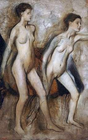 konfigurieren des Kunstdrucks in Wunschgröße Young Spartan Girls Provoking The Boys von Degas, Edgar