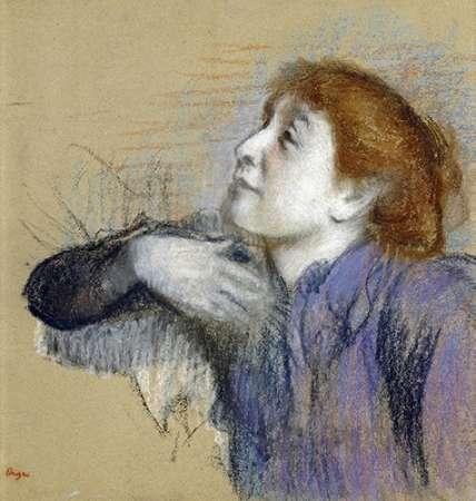 konfigurieren des Kunstdrucks in Wunschgröße Bust of a Woman von Degas, Edgar