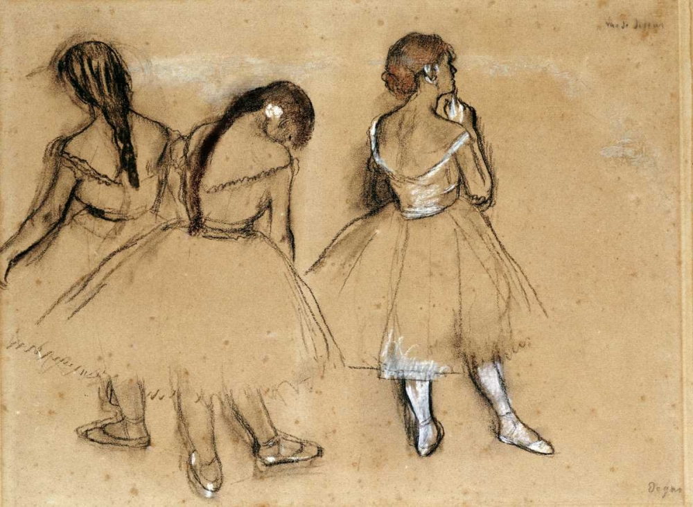 konfigurieren des Kunstdrucks in Wunschgröße Three Dancers von Degas, Edgar