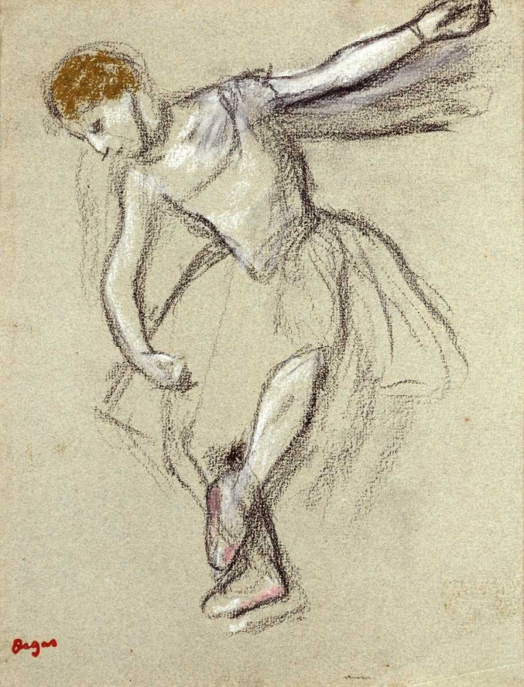 konfigurieren des Kunstdrucks in Wunschgröße A Dancer Seen In Profile von Degas, Edgar