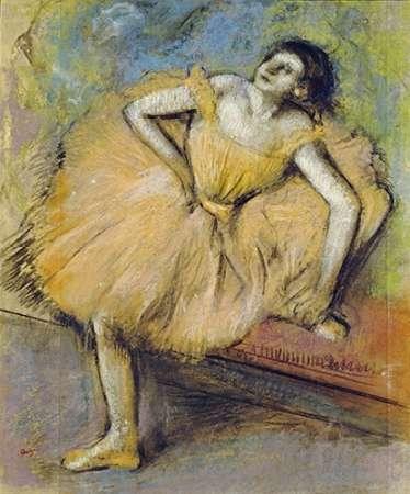konfigurieren des Kunstdrucks in Wunschgröße Danseuse Assise von Degas, Edgar