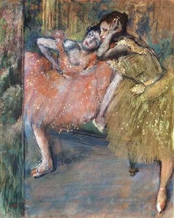 konfigurieren des Kunstdrucks in Wunschgröße Two Dancers by a Hearth von Degas, Edgar