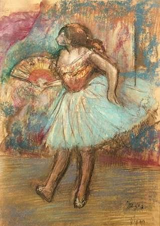konfigurieren des Kunstdrucks in Wunschgröße Dancer With a Fan von Degas, Edgar