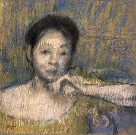 konfigurieren des Kunstdrucks in Wunschgröße Bust of a Woman With Her Left Hand On Her Chin von Degas, Edgar