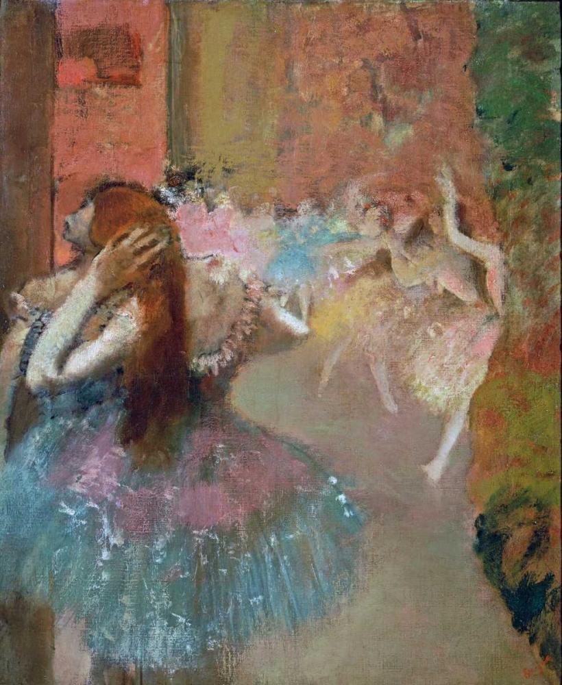 konfigurieren des Kunstdrucks in Wunschgröße Scene De Ballet Or Balleteuses von Degas, Edgar