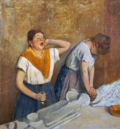 konfigurieren des Kunstdrucks in Wunschgröße The Laundry Workers Ironing von Degas, Edgar