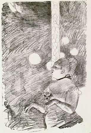 konfigurieren des Kunstdrucks in Wunschgröße The Song of The Dog von Degas, Edgar
