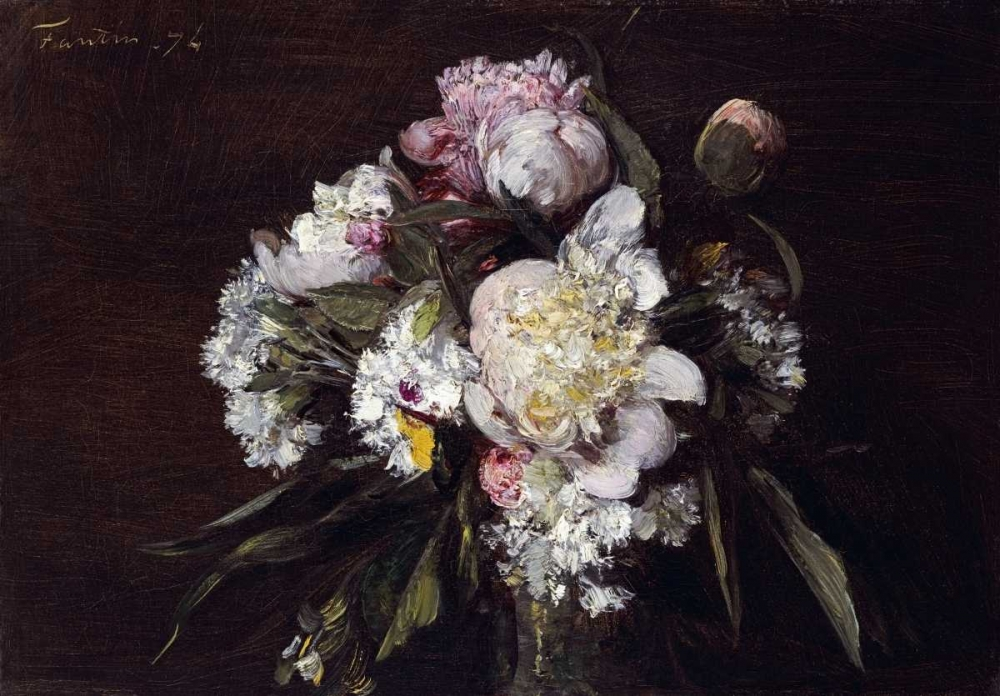 Peonies, White Carnations and Roses von Fantin-Latour, Henri <br> max. 94 x 66cm <br> Preis: ab 10€