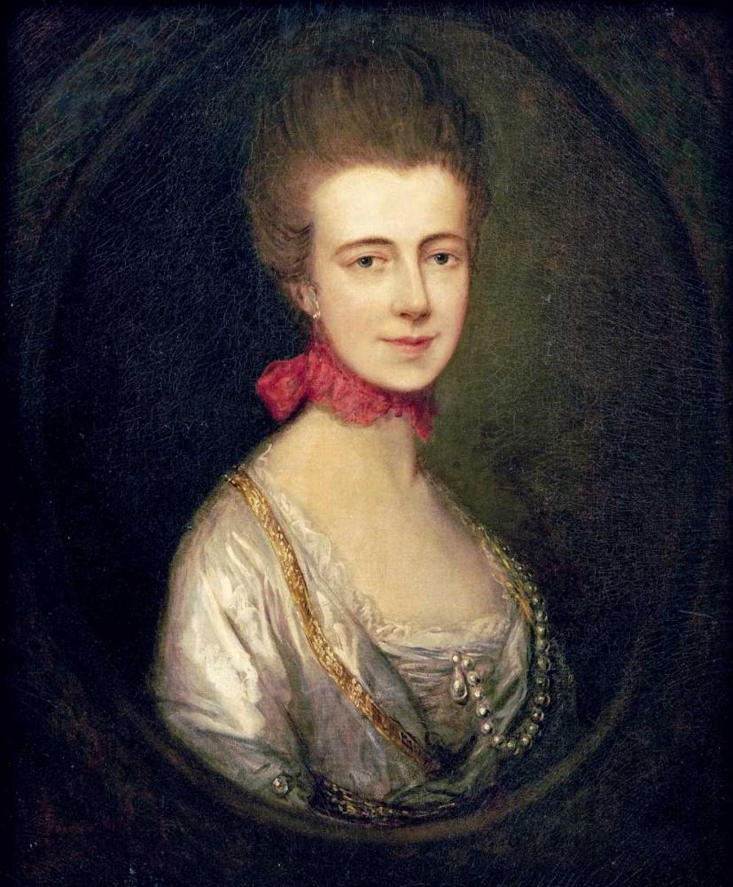 konfigurieren des Kunstdrucks in Wunschgröße Portrait of Miss Boone von Gainsborough, Thomas