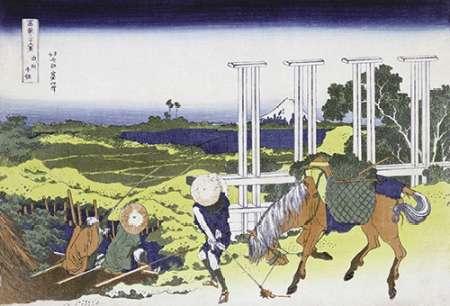 konfigurieren des Kunstdrucks in Wunschgröße Senju In Musashi Province von Hokusai