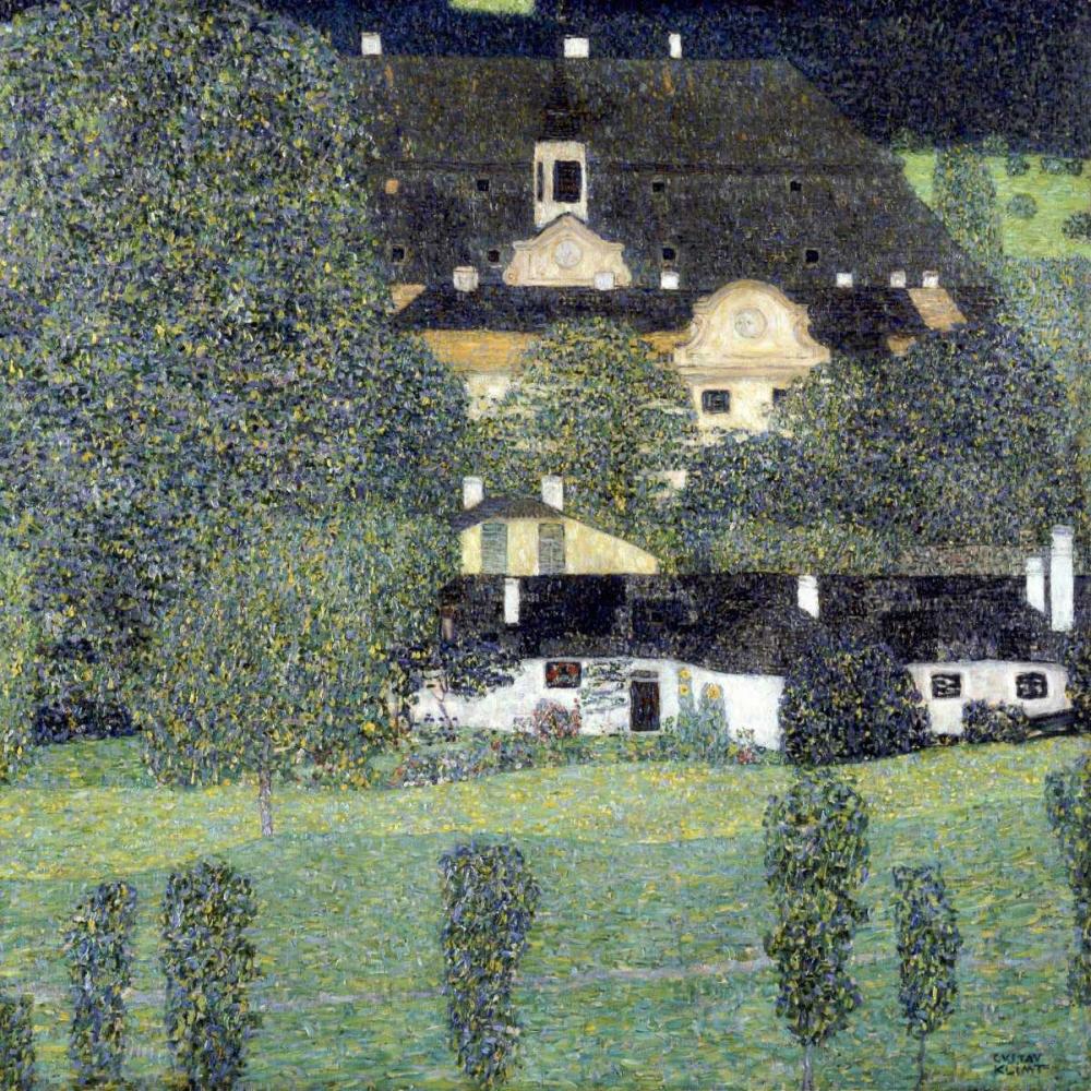 konfigurieren des Kunstdrucks in Wunschgröße Schloss Kammer Am Attersee II von Klimt, Gustav