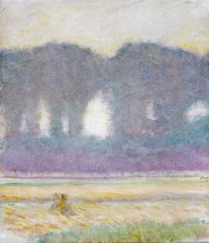 konfigurieren des Kunstdrucks in Wunschgröße Fir Trees and a Corn Field von Macke, August