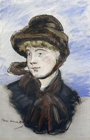 konfigurieren des Kunstdrucks in Wunschgröße Young Girl in a Brown Hat von Manet, Edouard
