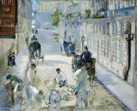 konfigurieren des Kunstdrucks in Wunschgröße Rue Mosnier with Workmen von Manet, Edouard