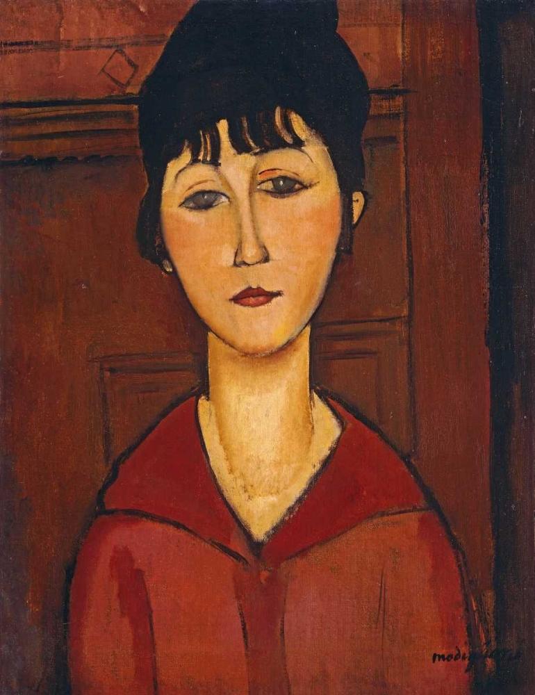 konfigurieren des Kunstdrucks in Wunschgröße Head of a Young Girl von Modigliani, Amedeo