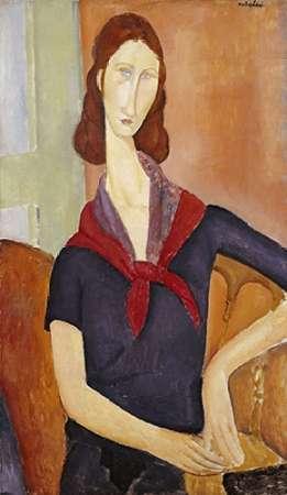 konfigurieren des Kunstdrucks in Wunschgröße Jeanne Hebuterne (with a Scarf) von Modigliani, Amedeo