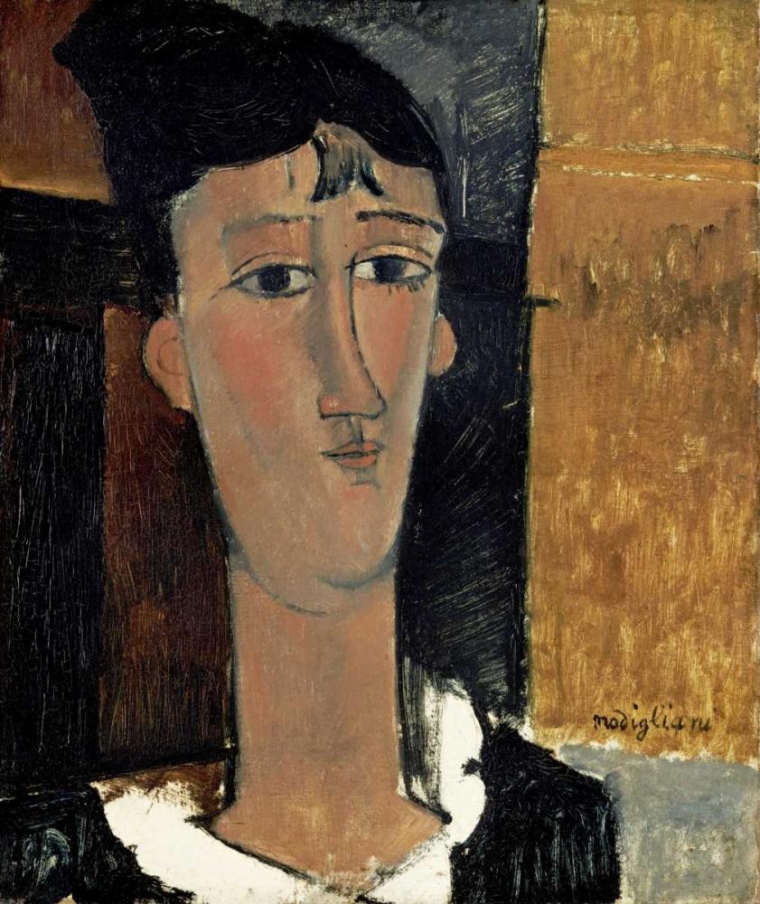 konfigurieren des Kunstdrucks in Wunschgröße Portrait of a Young Woman - La Concierge von Modigliani, Amedeo
