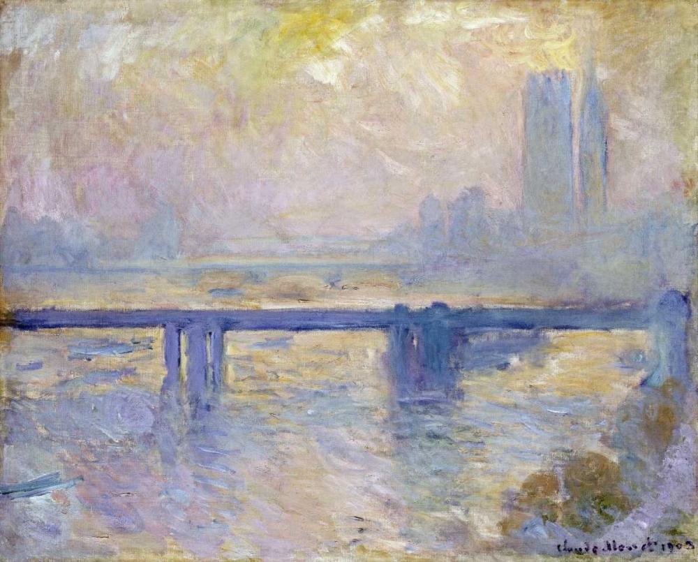 konfigurieren des Kunstdrucks in Wunschgröße Charing Cross Bridge von Monet, Claude