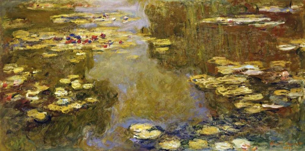 konfigurieren des Kunstdrucks in Wunschgröße The Lily Pond von Monet, Claude