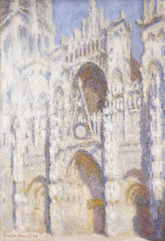 konfigurieren des Kunstdrucks in Wunschgröße Rouen Cathedral in the Afternoon - The Gate in Full Sun von Monet, Claude