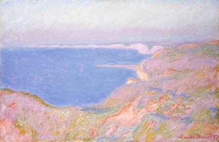 konfigurieren des Kunstdrucks in Wunschgröße On the Cliffs Near Dieppe, Sunset von Monet, Claude