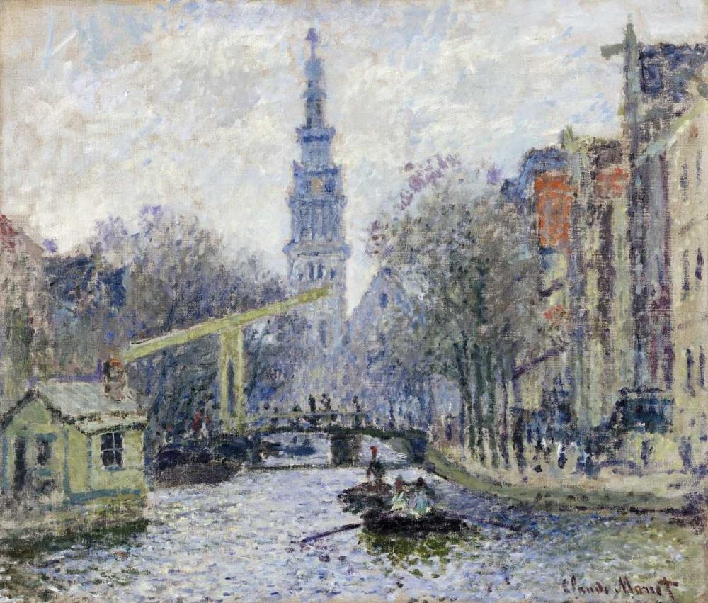 konfigurieren des Kunstdrucks in Wunschgröße Canal, Amsterdam von Monet, Claude
