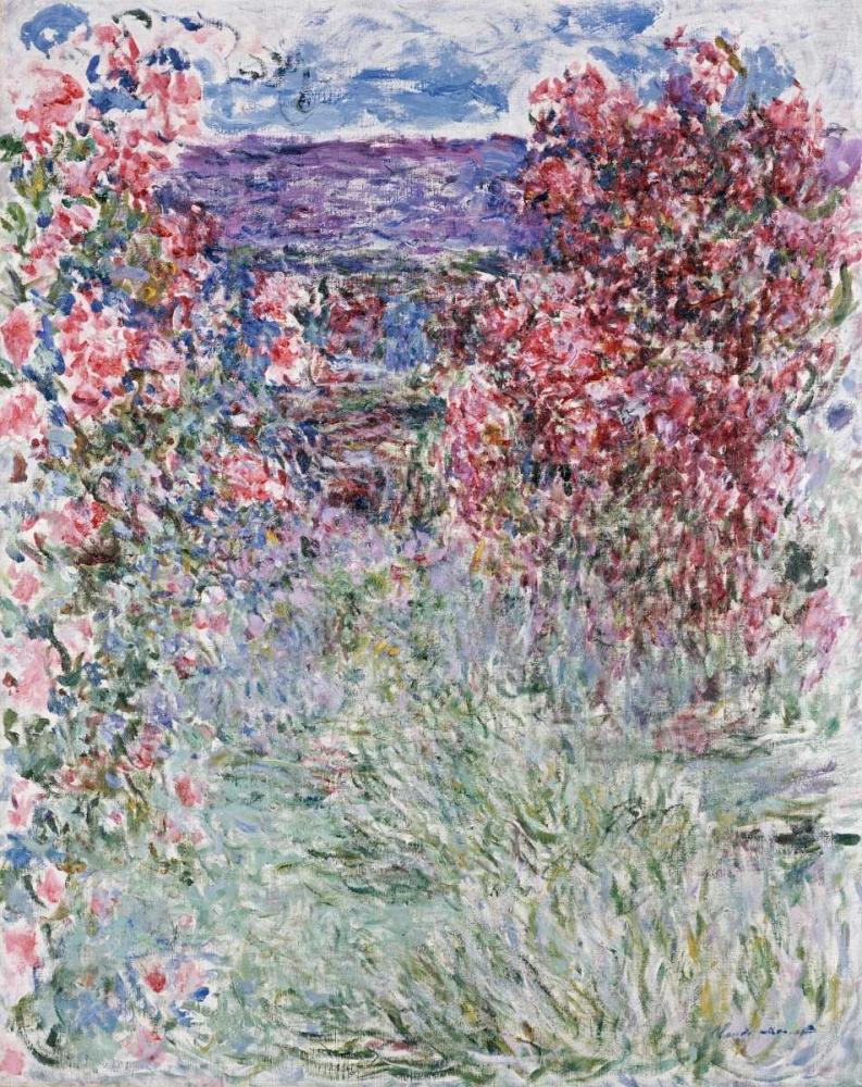 konfigurieren des Kunstdrucks in Wunschgröße The House in the Roses von Monet, Claude