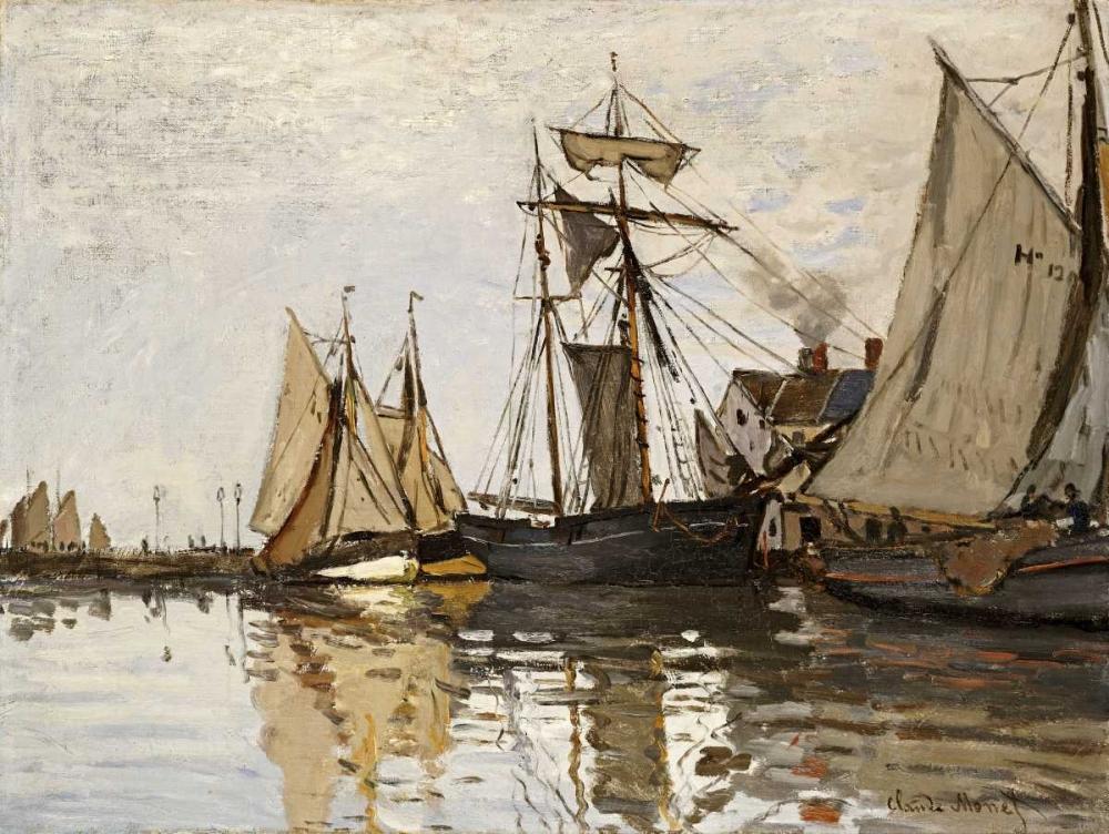 konfigurieren des Kunstdrucks in Wunschgröße The Port of Honfleur von Monet, Claude