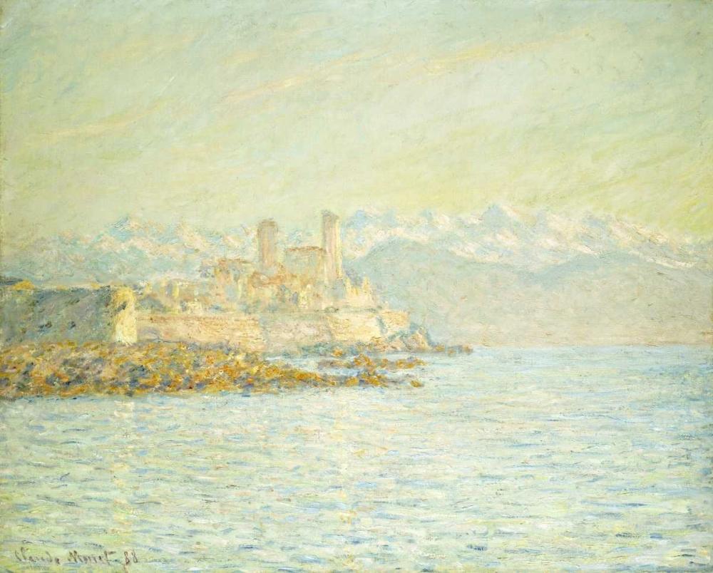 konfigurieren des Kunstdrucks in Wunschgröße The Old Fort at Antibes von Monet, Claude