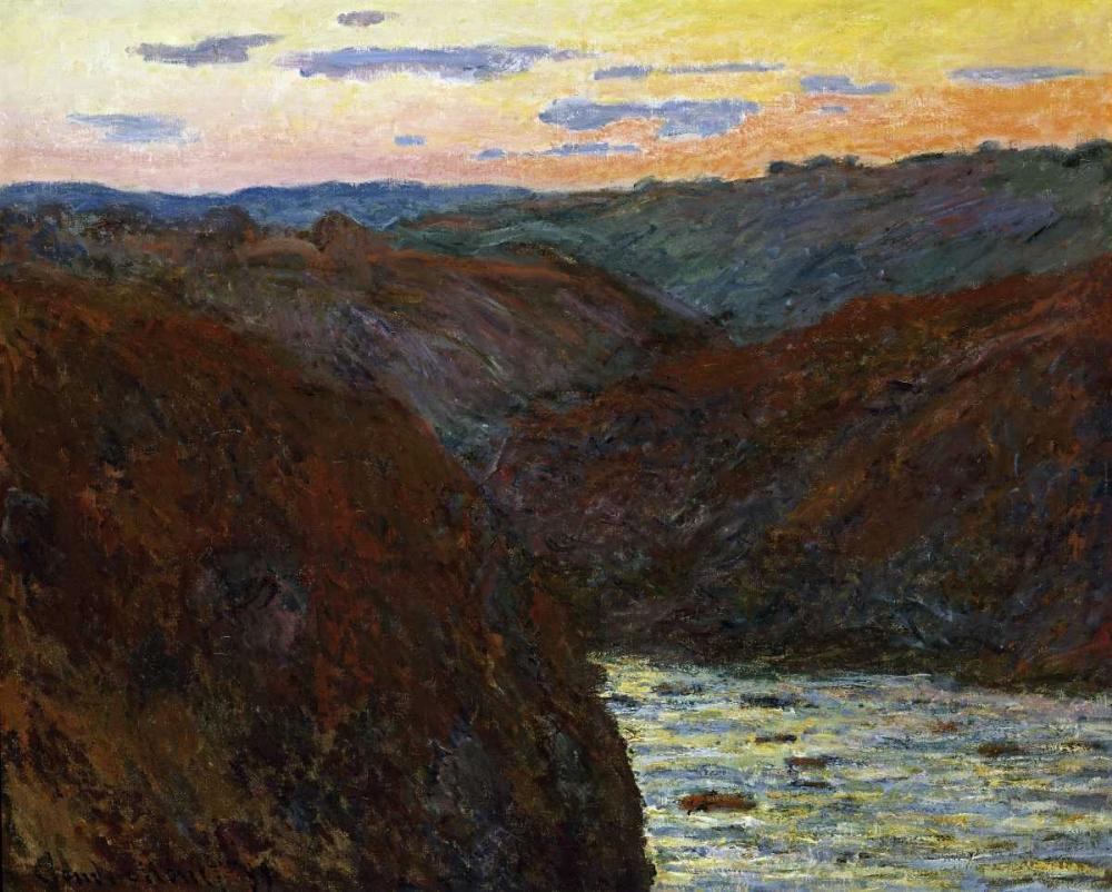 konfigurieren des Kunstdrucks in Wunschgröße La Creuse, Sunset von Monet, Claude