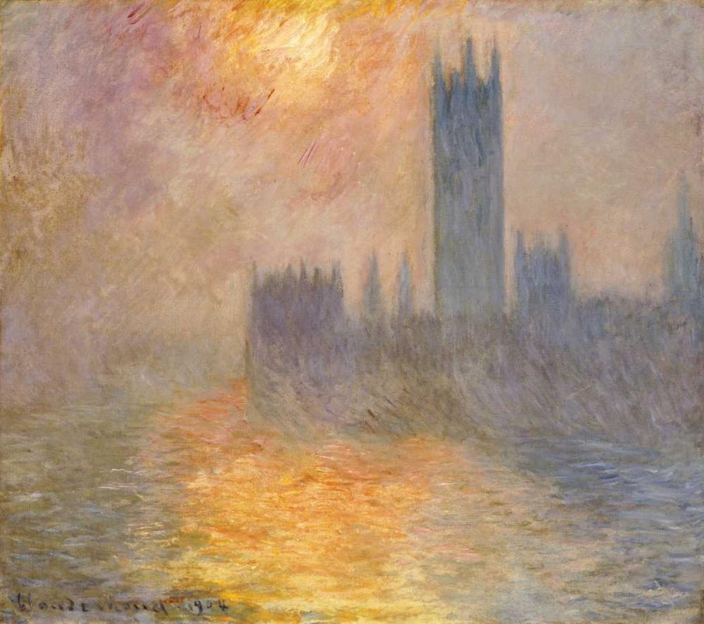 konfigurieren des Kunstdrucks in Wunschgröße Parliament at Sunset von Monet, Claude