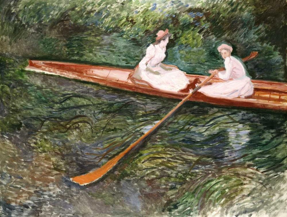 konfigurieren des Kunstdrucks in Wunschgröße The Pink Rowing Boat von Monet, Claude