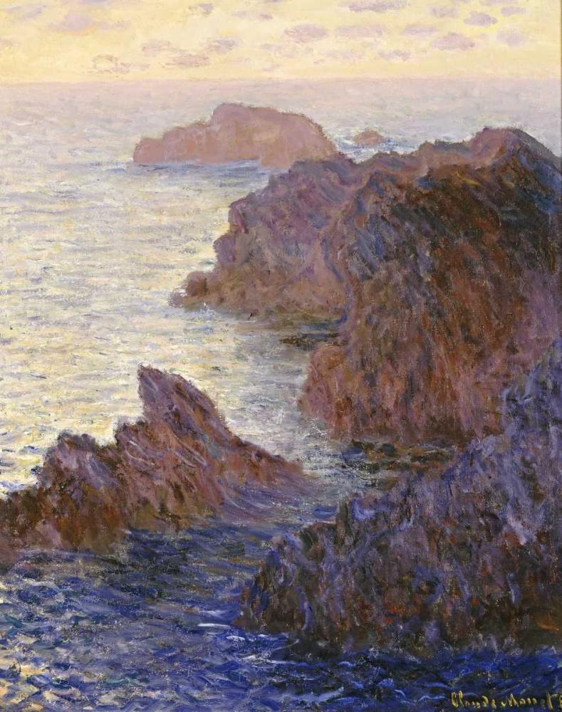 konfigurieren des Kunstdrucks in Wunschgröße Rocky Point at Port-Goulphar, 1886 von Monet, Claude