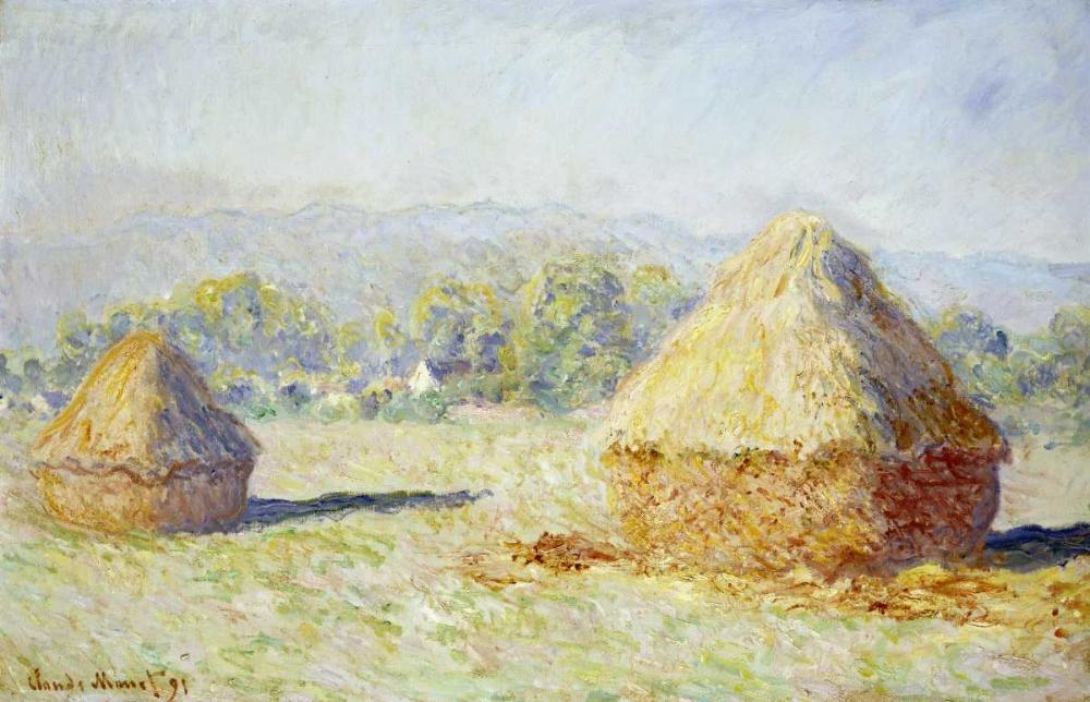 konfigurieren des Kunstdrucks in Wunschgröße Haystacks, Morning Effect von Monet, Claude