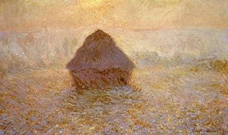 konfigurieren des Kunstdrucks in Wunschgröße Haystacks, Sun on the Mist von Monet, Claude