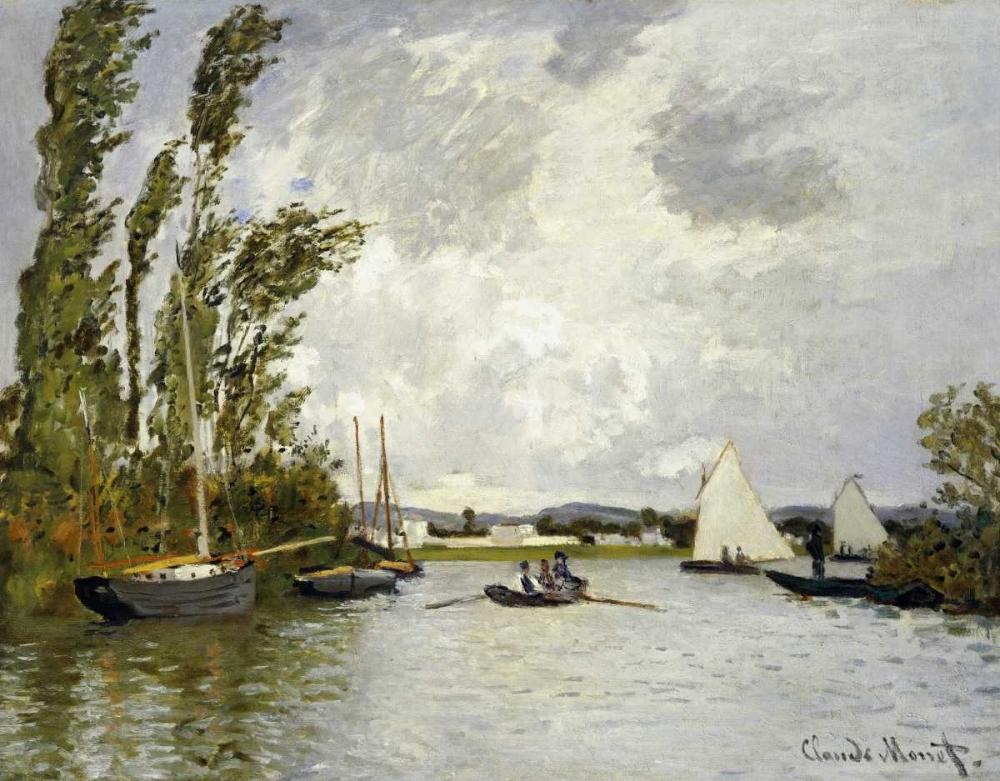 konfigurieren des Kunstdrucks in Wunschgröße The Little Branch of the Seine von Monet, Claude