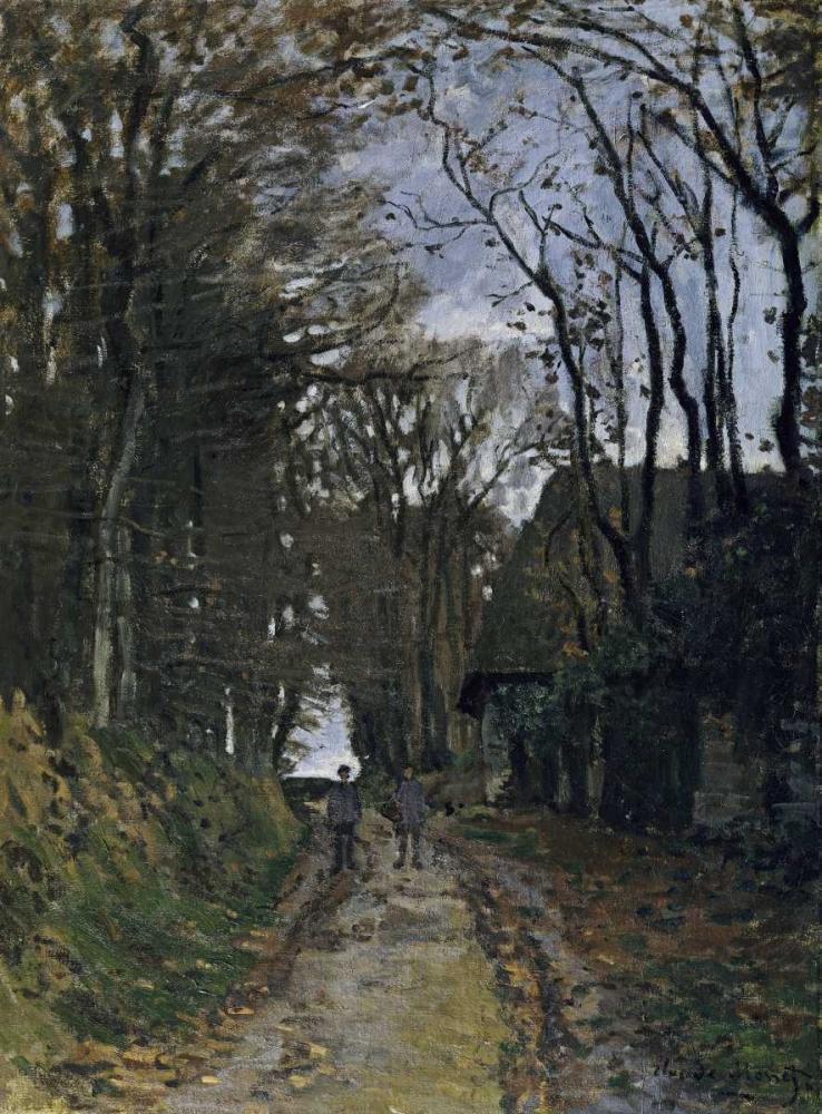 konfigurieren des Kunstdrucks in Wunschgröße A Normandy Path von Monet, Claude