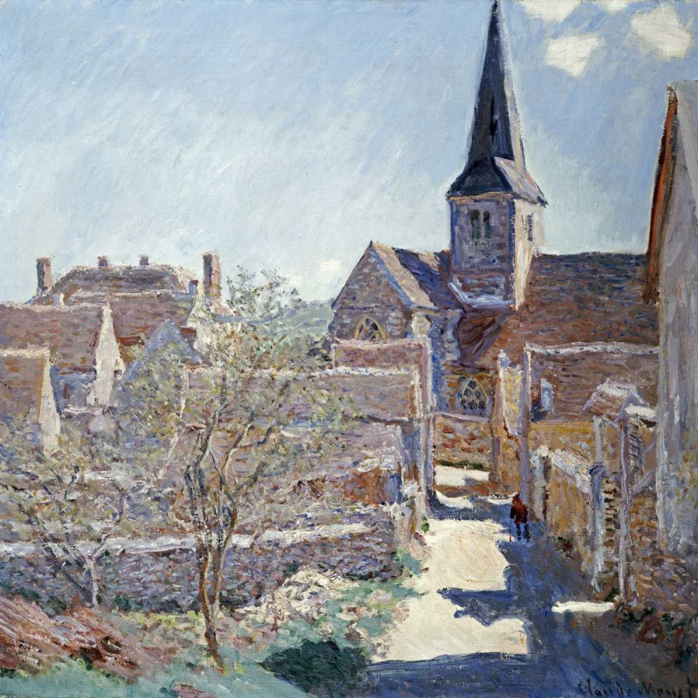 konfigurieren des Kunstdrucks in Wunschgröße Bennecourt von Monet, Claude