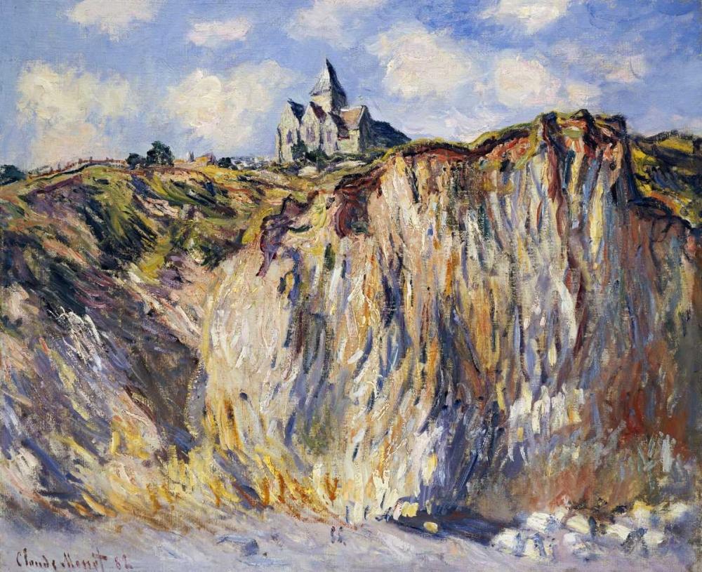 konfigurieren des Kunstdrucks in Wunschgröße Church of Varengeville, in the Morning von Monet, Claude